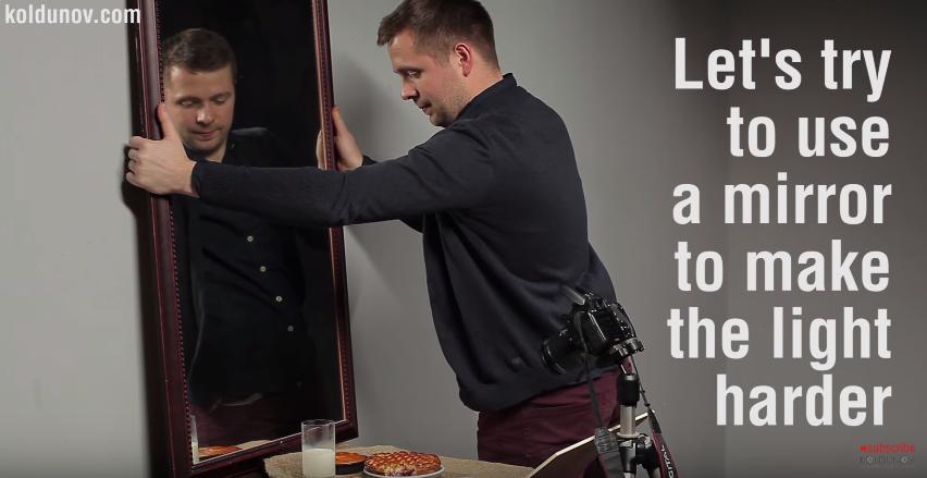 используем зеркало для перенаправления встроенной вспышки