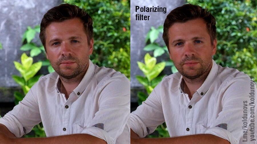 применение поляризационного фильтра в портретной фотографии