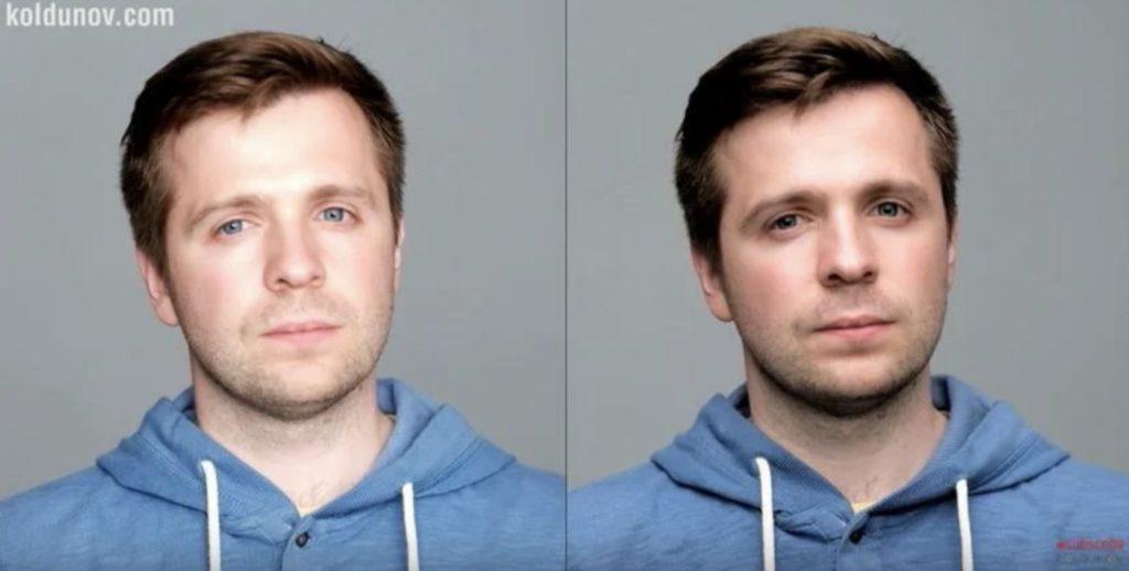 как избавиться от второго подбородка при помощи освещения в фотографии