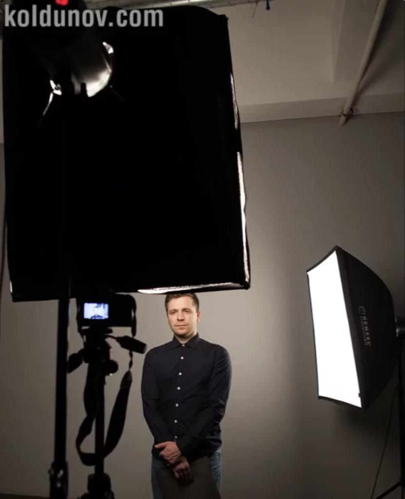 Вариант схемы света для видео блога