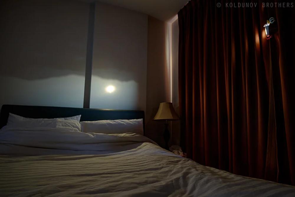 результат тёмной комнаты Camera obscura