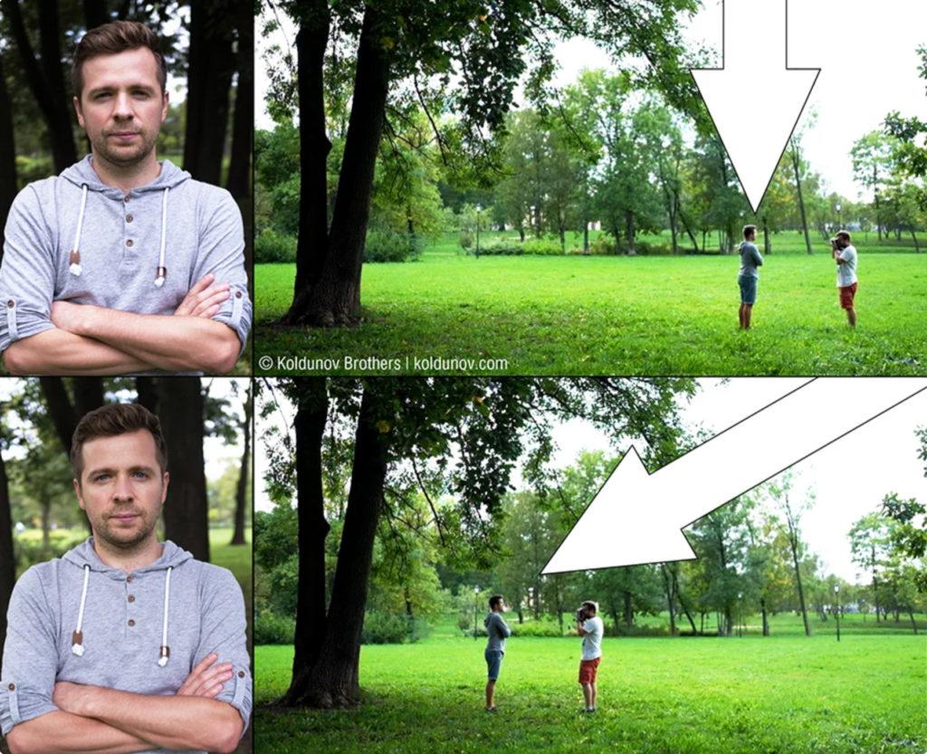 Использование естественных навесов для изменения основного направления света