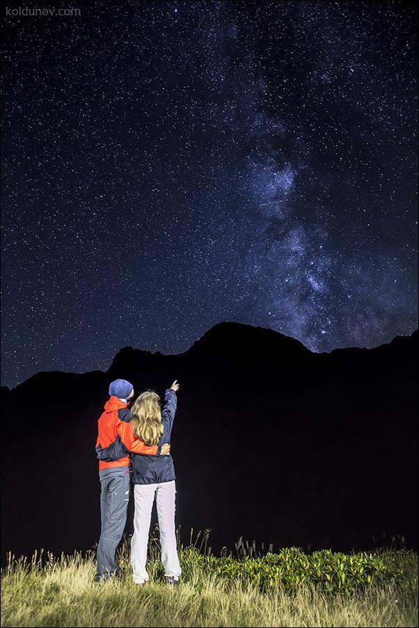 Ночной портрет на фоне Млечного Пути