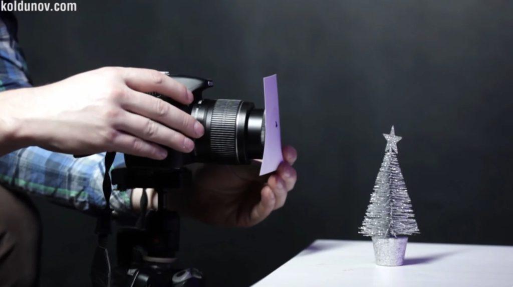 как получить звёздочки и другие фигурки на фоне при фотографировании гирлянды
