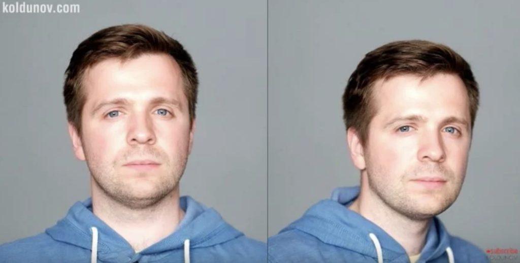 поменять позу при фотографировании, чтобы убрать двойной подбородок