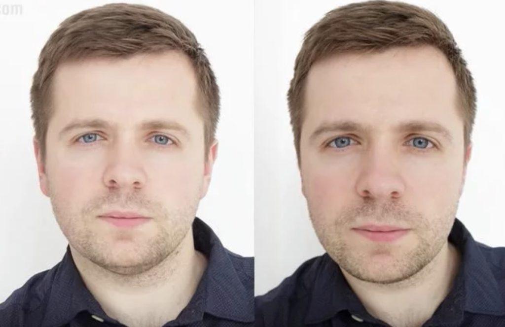 ракурсные искажения помогают справиться со вторым подбородком в портрете