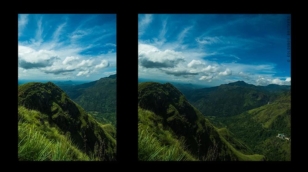 ролинг шаттер помогает сделать панораму без фотографирования нескольких кадров