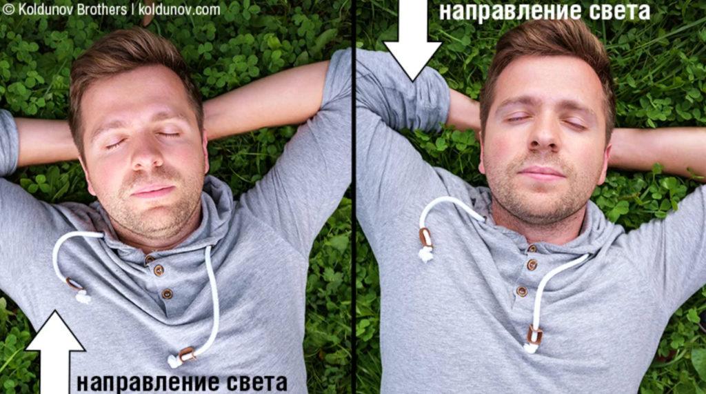 Типичная ситуация, когда фотограф забывает про направление света