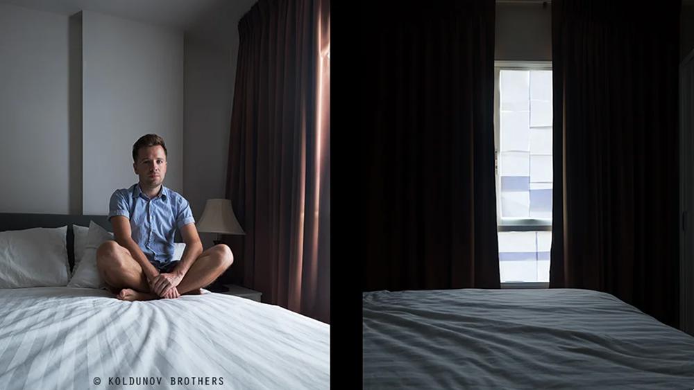 Освещение в портрете на фотографии сделанной напротив окна заклеенного бумагой