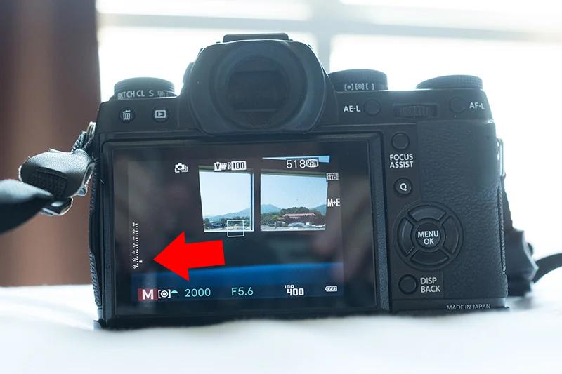 Шкала экспонометра при съёмке в ручном режиме фотоаппарата