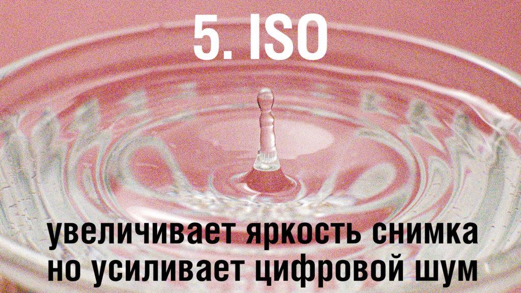 ISO - как влияет изменение чувствительности на цифровой шум.