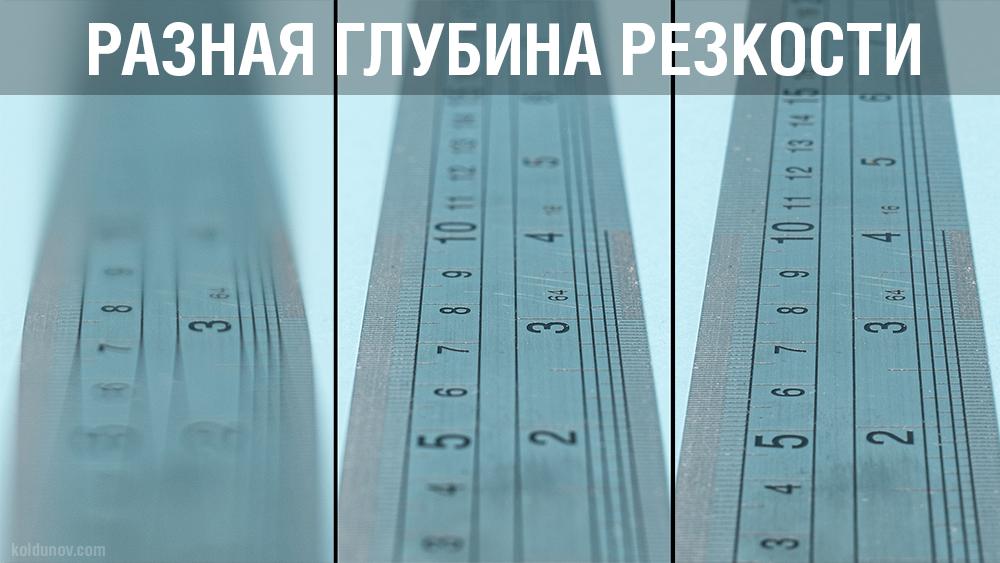 Разная глубина резкости. Как глубина резкости зависит от диафрагмы.
