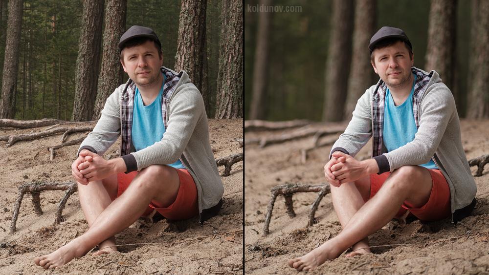 Съёмка на разной диафрагме. Портрет с размытием (боке).